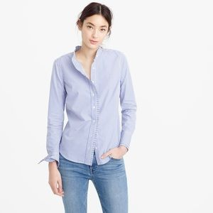 EUC J. Crew ruffle button down